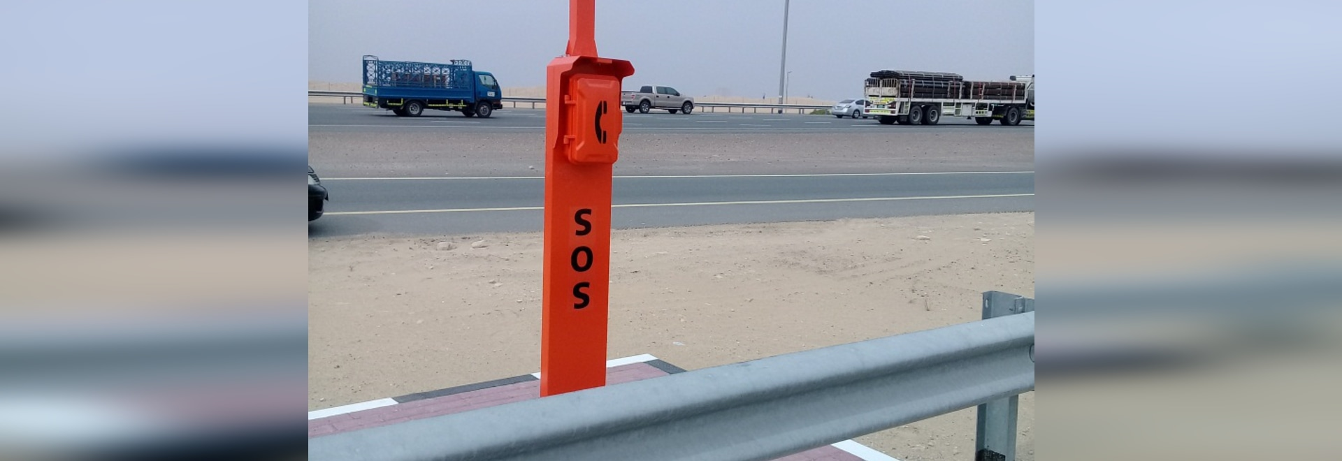 New Design Emergency Roadside Telephone for Dubai Highway Project
