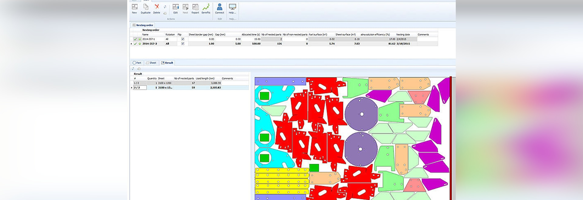 New functions available in Alma''s cloud-based automatic nesting demonstrator.