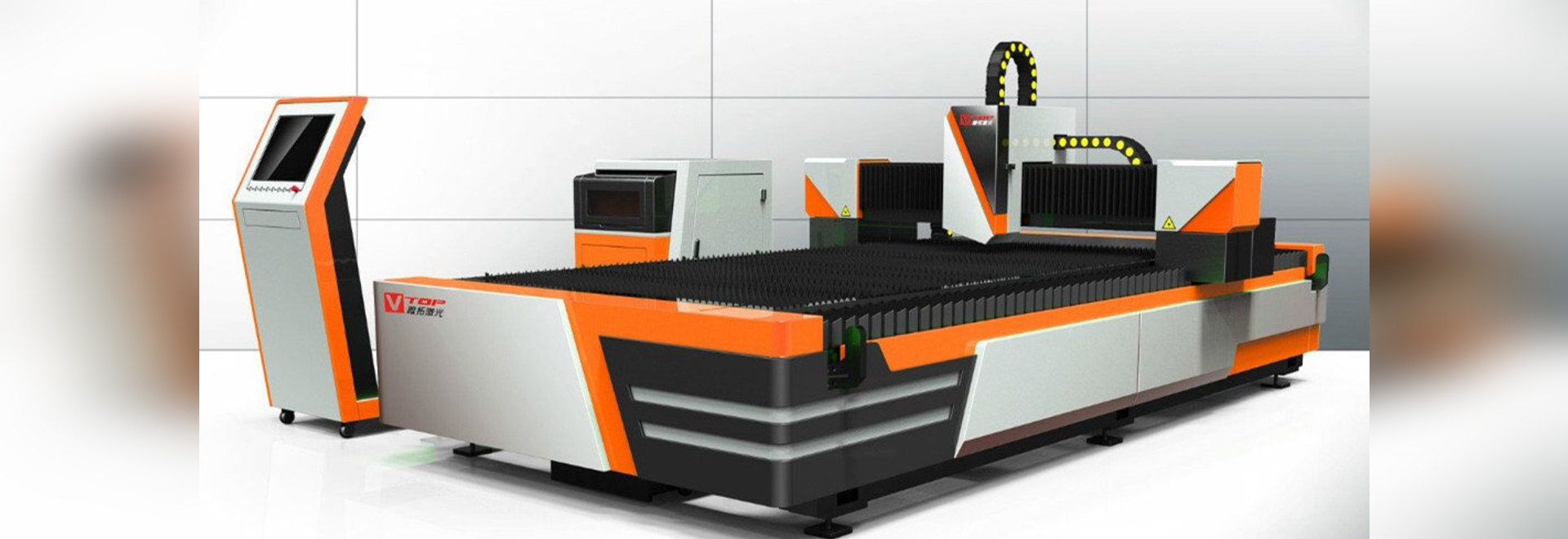 New Model Economic Open Type Fiber Laser Metal Sheet Cutting Machine Designed By Golden Vtop Laser