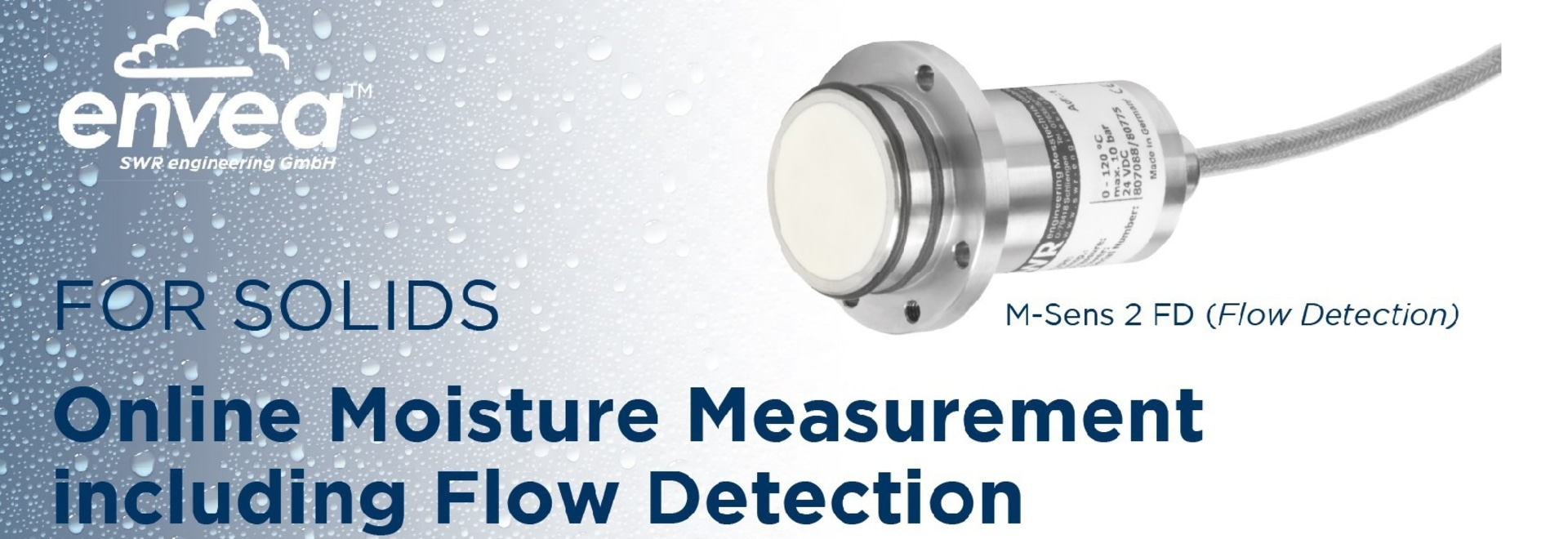 New product: Online Moisture Measurement including Flow Detection
