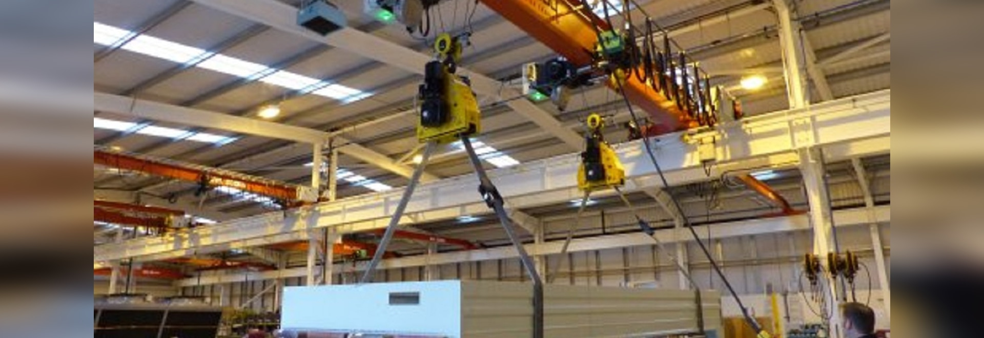 PELLOBY Cranes and VERLINDE hoists installed following Kelvion warehouse fire