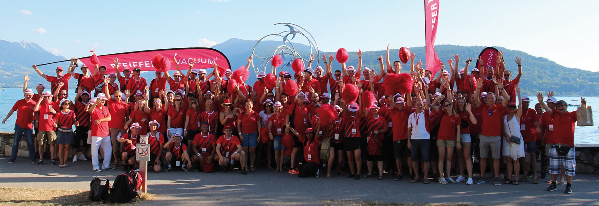 Pfeiffer Vacuum employees reached the second place in the overall ranking at the Corporate Games in Annecy