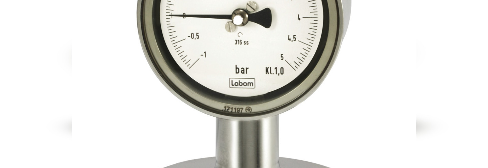 Pressure gauge NS 63/100 in hygienic design for food/pharmaceutical/biotechnology