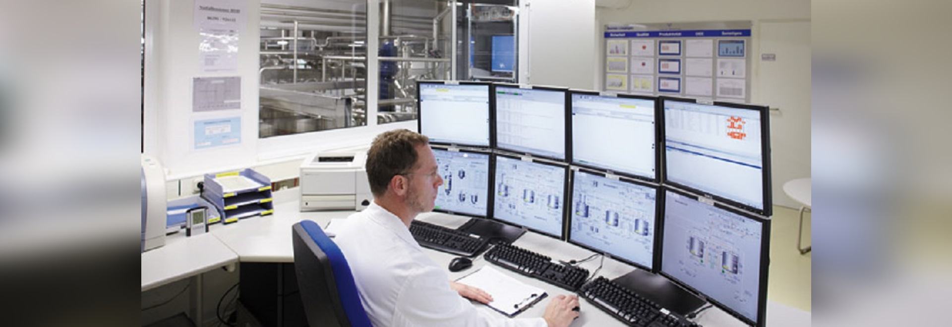 Process leading and visualisation system of AZO CONTROLS