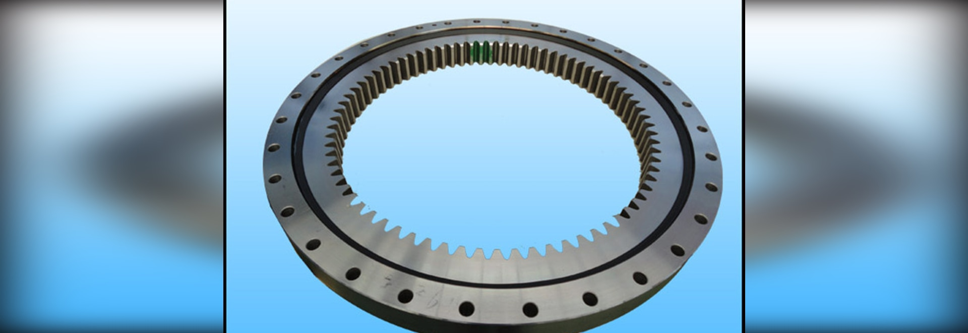 Rotate flexibly slewing bearing with internal gear which used in environmental machinery