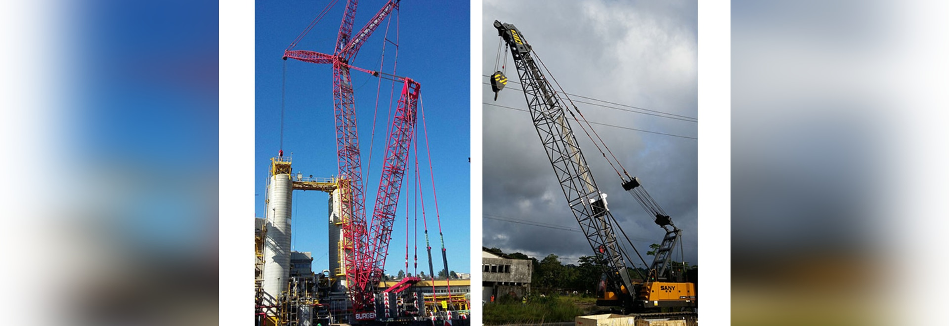 SANY crawler crane participates in Latin America infrastructure construction