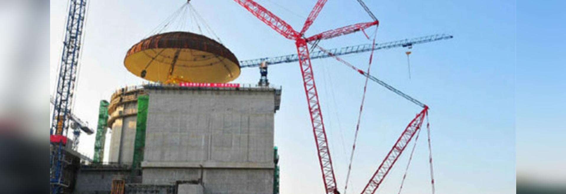 SCC16000 crawler crane in Guangdong Yangjiang Nuclear Power Plant
