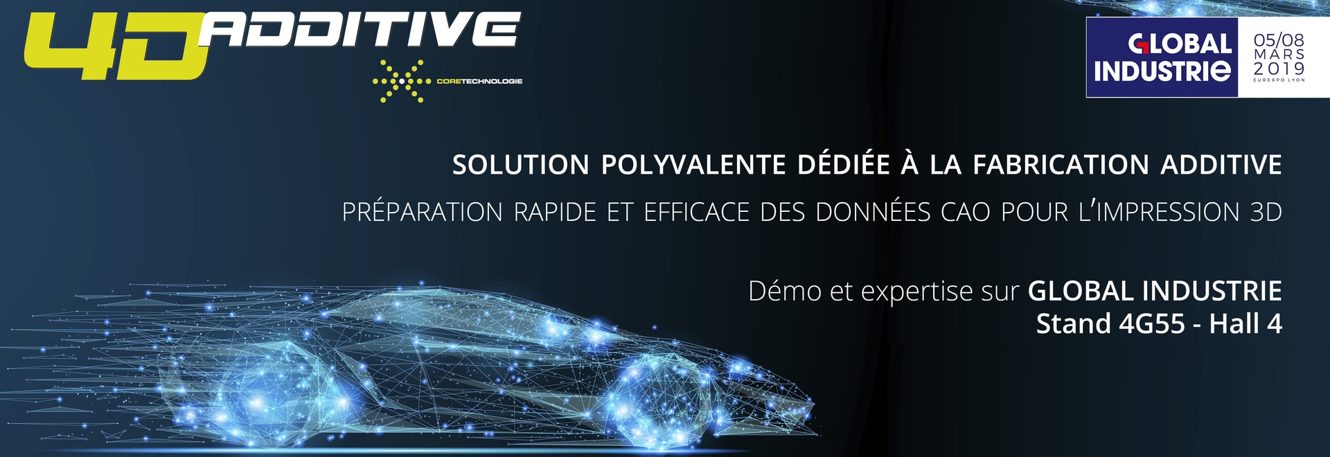 Software innovation for 3D printing: 4D_Additive presented at the Global Industrie Exhibition