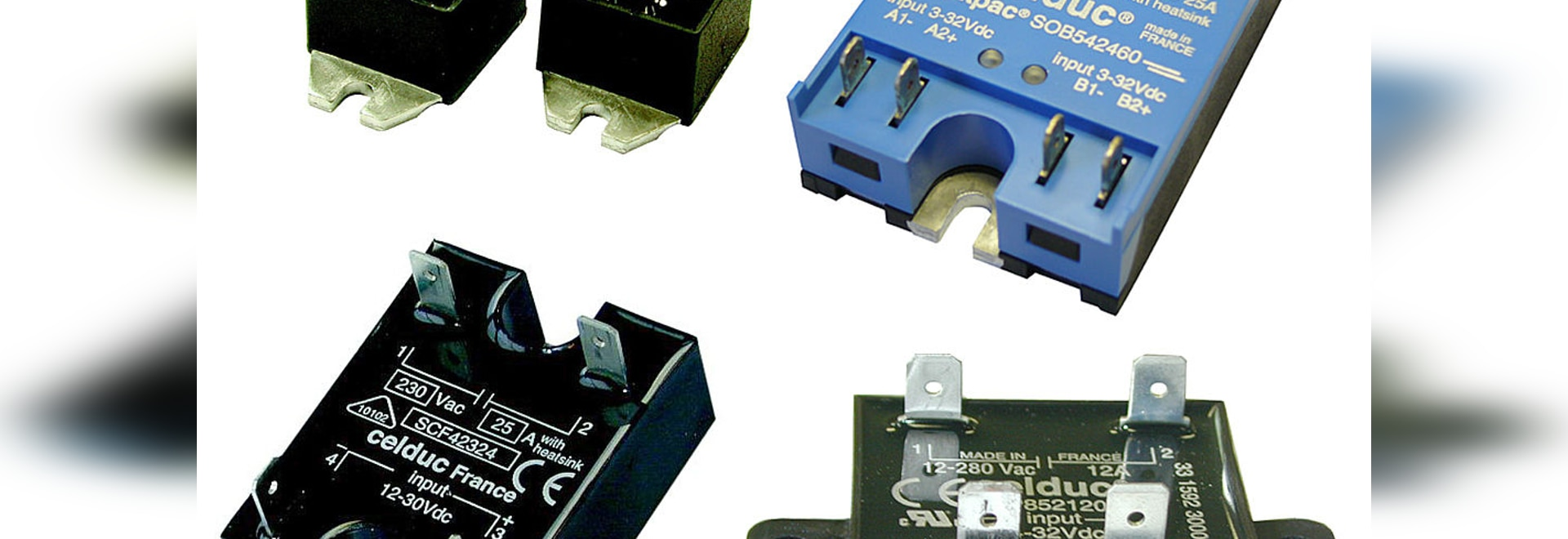 Solid State Relays With Faston Terminals For A Quick Connection Relay 230vac