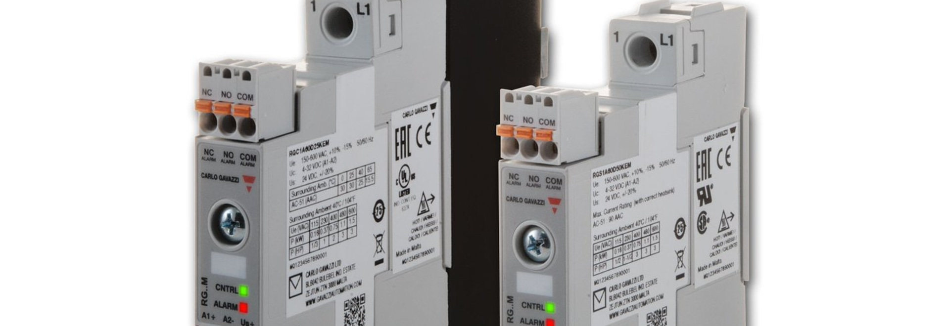 State Relays and Contactors with Built-in Monitoring