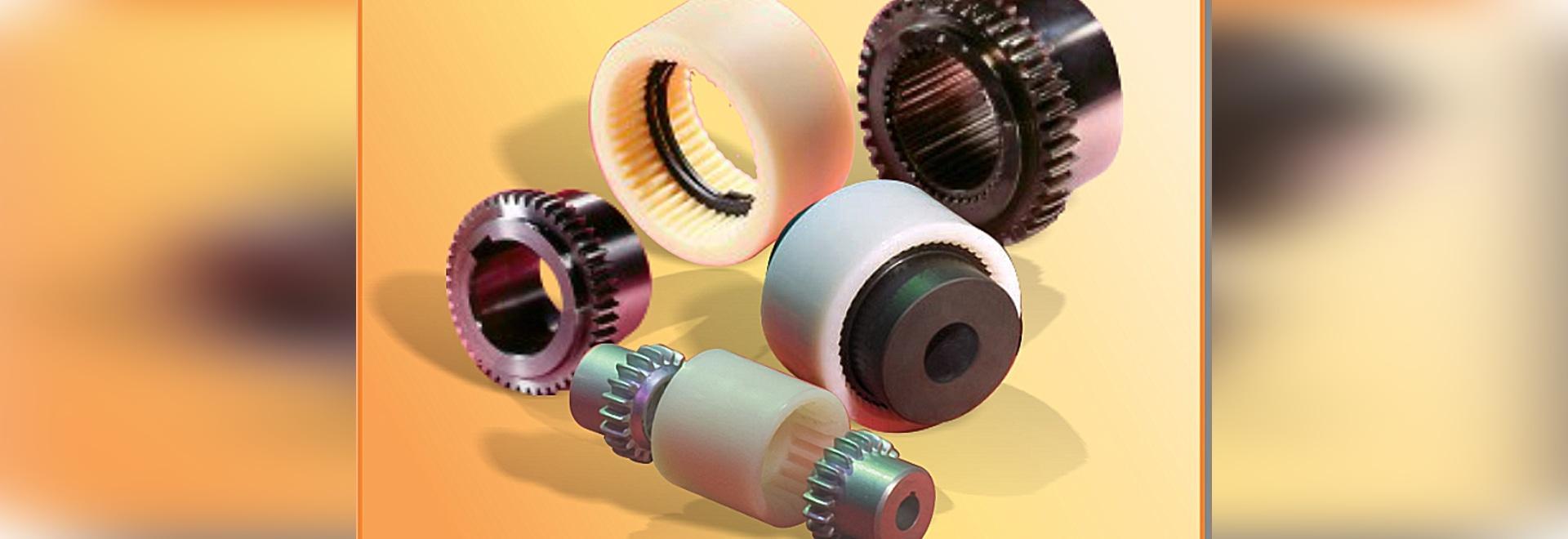 Steel gear, nylon sleeve gear couplings