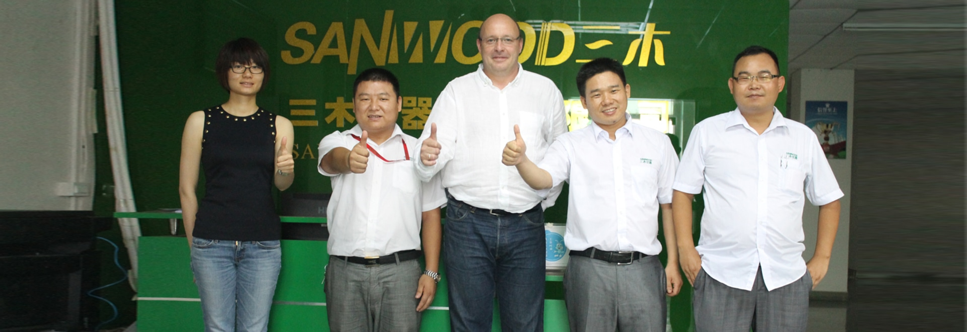 Thanks for Germany customer visiting Sanwood and directing our work