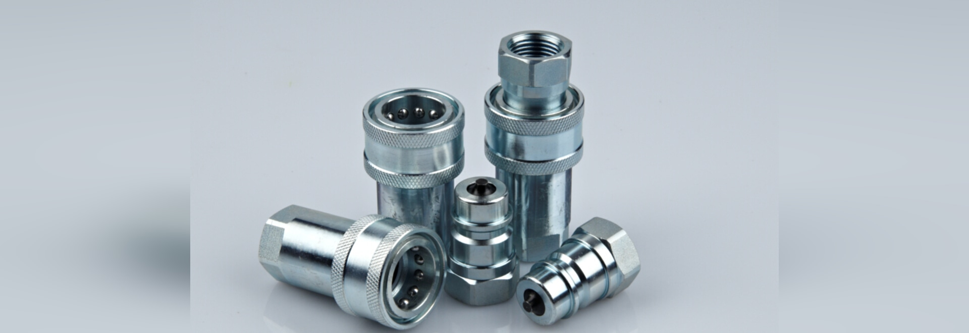 Threaded quick coupling/straight/steel/hydraulic