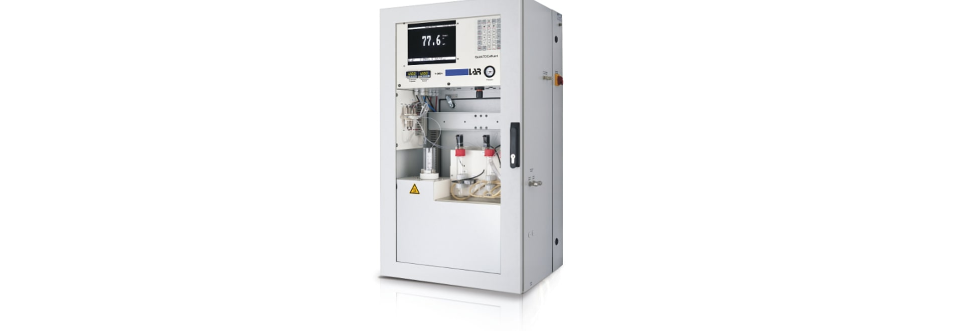TOC analyzer for the plant's effluent