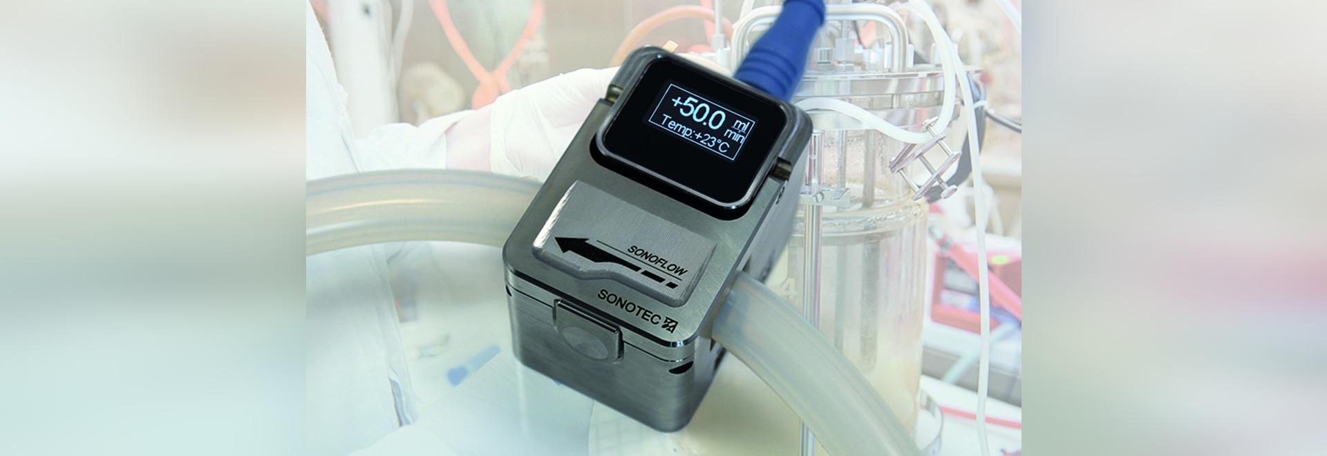 Ultrasonic Flow Sensor for Bioprocessing