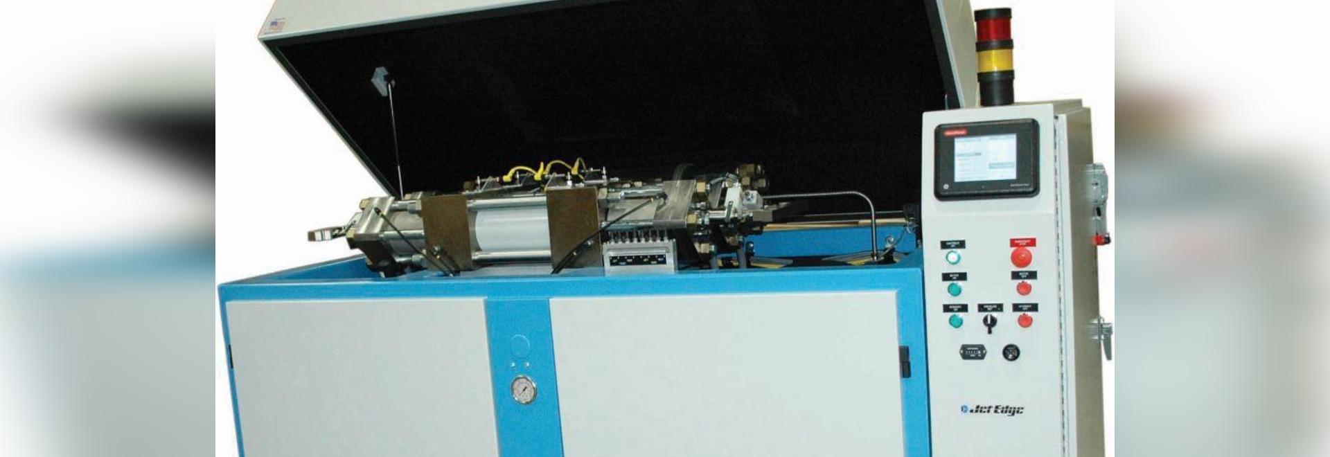 Waterjet Intensifier Pump Reduces Water, Power, Abrasive Usage