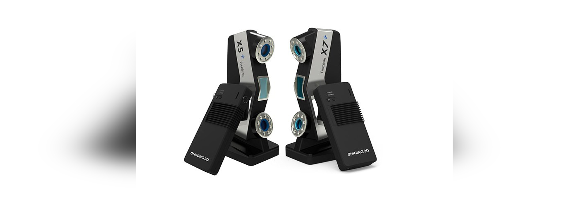 Wireless FreeScan X5+ & X7+, SHINING 3D's First Wireless Laser Handheld 3D Scanners