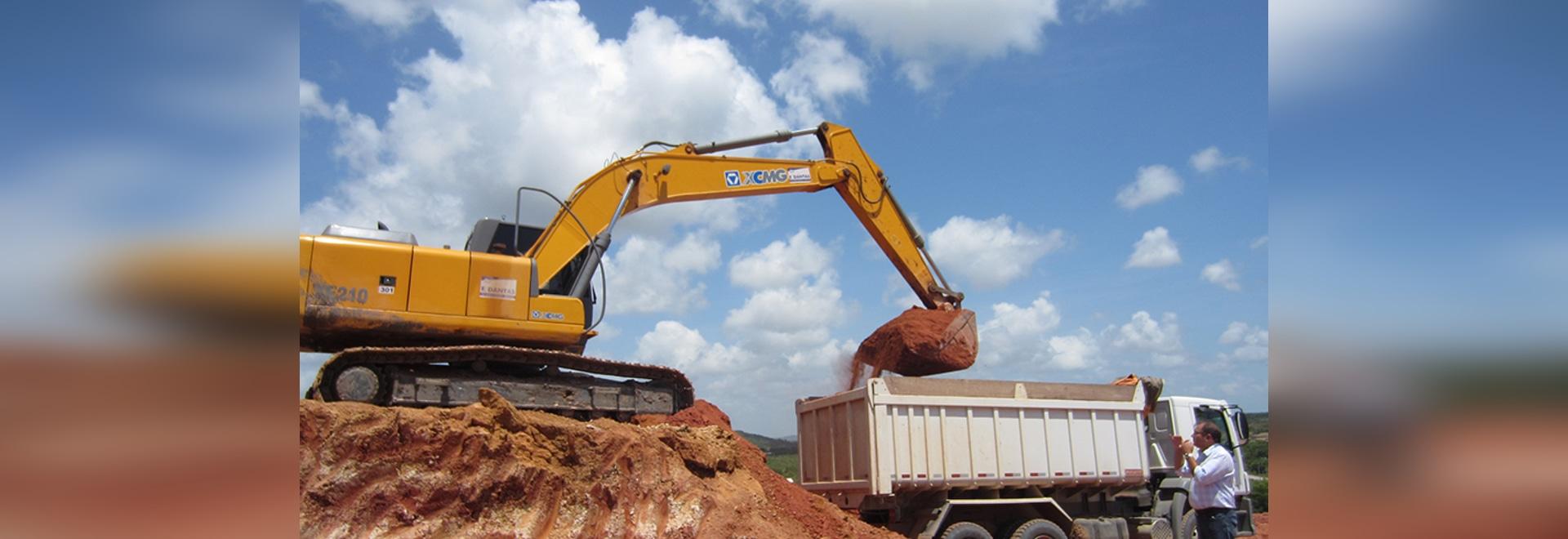 XE210 Brazil quarry construction
