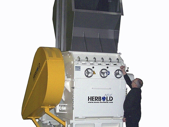 NEUE HERBOLD - Size reduction of massive purgings start-up lumps, rubber bales, fibre, thickwalled pipes, etc.