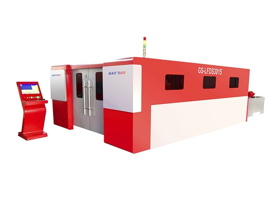 HANS GS GS-LFDS3015 2000W Fiber Laser Cutting Machine with exchangeable pallet