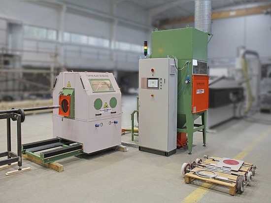 Automatic Machine for pipe blasting
