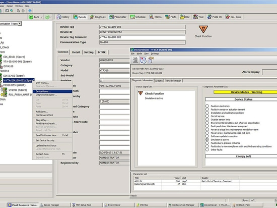 Yokogawa releases Plant Resource Manager (PRM) R3.20