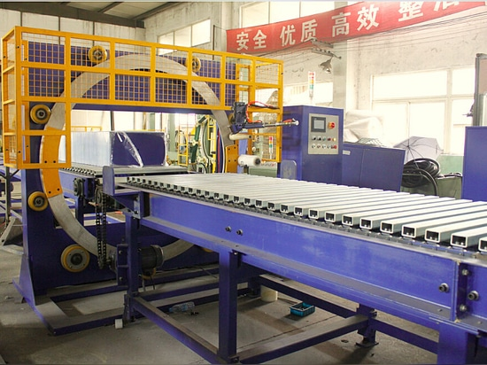 horizontal steel sheet stretch wrapping machine