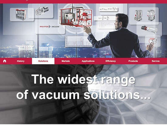 Pfeiffer Vacuum presents its vacuum solutions as a new online experience