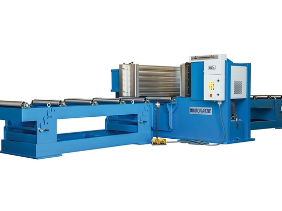 New series of cambering presses HIDROGARNE for straightening and bending of large size profiles, bars and beams