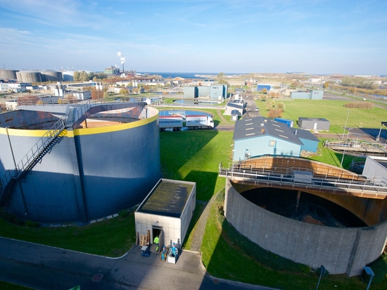 View over the Sjölunda water treatment plant. smart