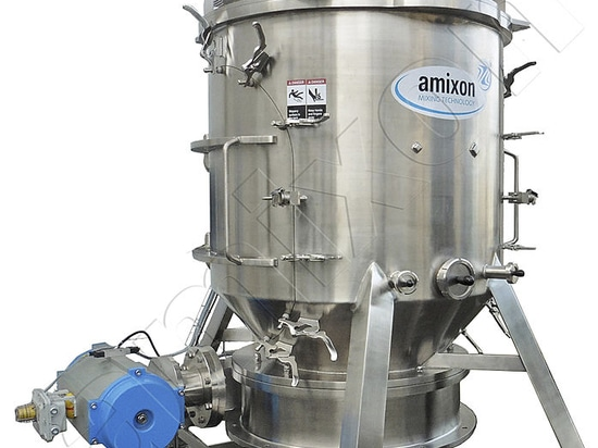KoneSlid® mixer with extremely fast emptying