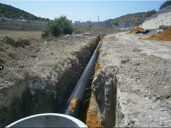 Steel Reinforced Corrugated Pipe Installation in Italy