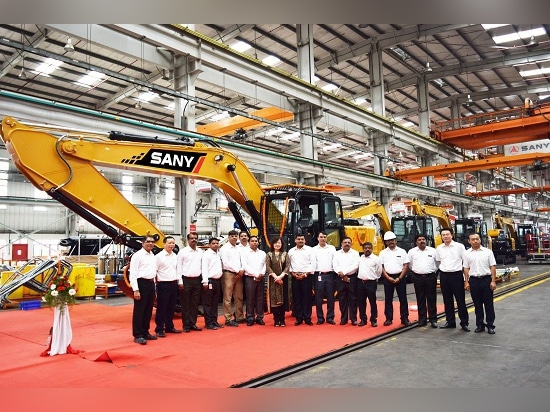 SANY India Rolls out 1000th & 1001st Construction Machine from Plant in Chakan, Pune