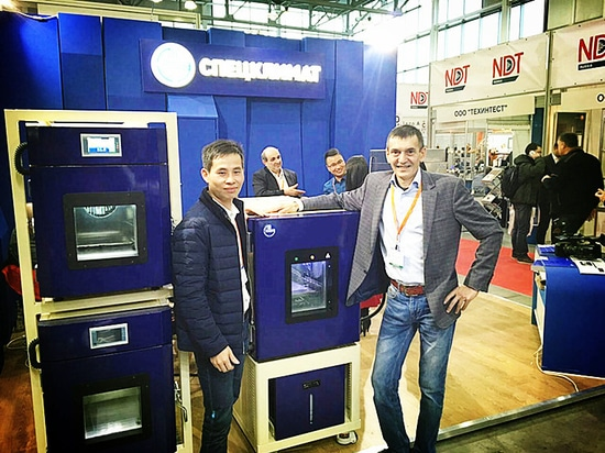 SANWOOD Team visted Our Russia distributor's booth