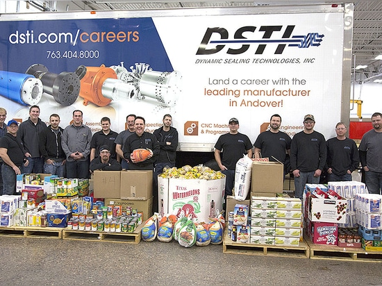 DSTI Donates 3,400 Pounds to NACE Foodshelf This Holiday Season