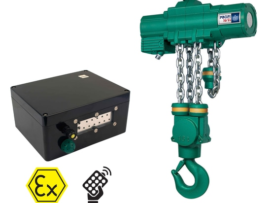 The latest radio control compact receiver which can be retro fitted on the J D Neuhaus Profi range of hoists and crane systems