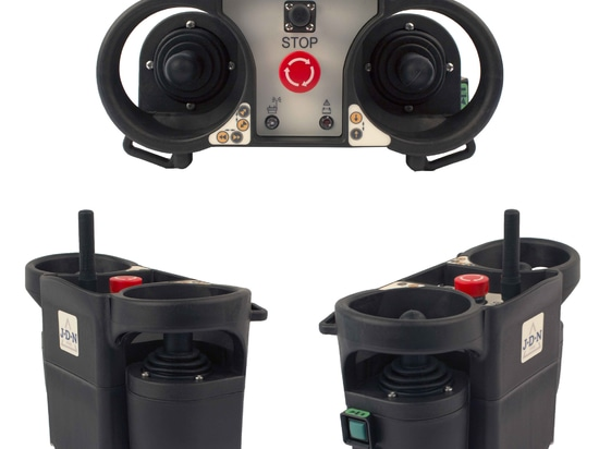 Control elements supplied with the latest RC equipment now available for the J D Neuhaus range of handling equipment, and suitable for use in zone 2/22 conditions