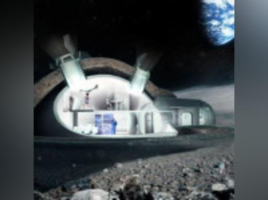 3-D PRINTED MOON BASE BY ESA