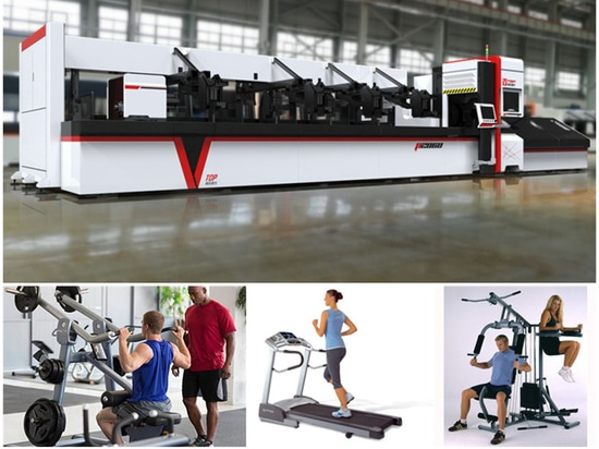 The Application Of Stainless Steel Pipe / Tube Laser Cutting Machine In Fitness / Sports Equipment Industry