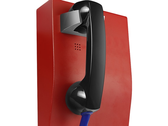 JR RELEASE NEW ARRIVAL--RED HOTLINE RED WALL MOUNTED PUBLIC TELEPHONE JR207-CB-OW