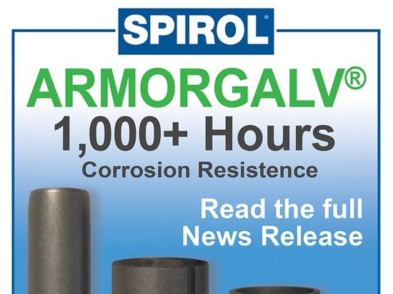 SPIROL introduces ArmorGalv as standard finish on Tubular Products