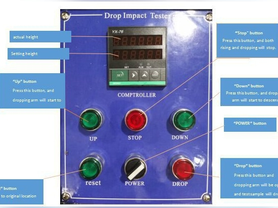 Drop Test Machine Control Panel