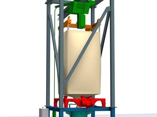 Modular big bag discharge station