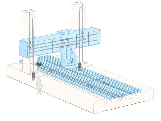 Large Fabrication Machine: Portal Milling Machine