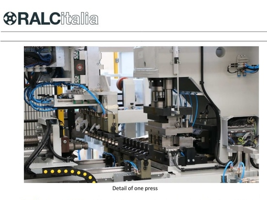 Full automatic line for cutting, brushing, washing, pressing and polishing.