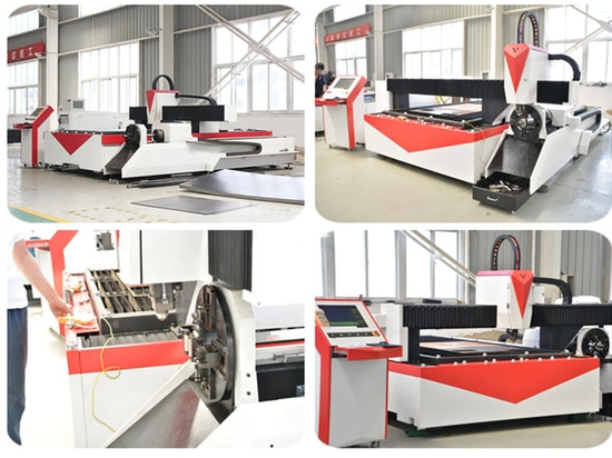 Cnc Fiber Laser Cutting Machine For Stainless Steel Sheet And Tube