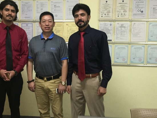 Clients from Pakistan visited J&R Technology Co.,Ltd for Contract discussing of our Emergency communication solutions