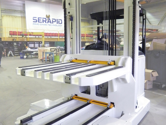 SERAPID Driver-operated truck with dual load platforms