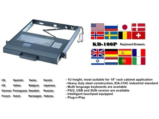 KD-100P: 1U Industrial Keyboard Drawer