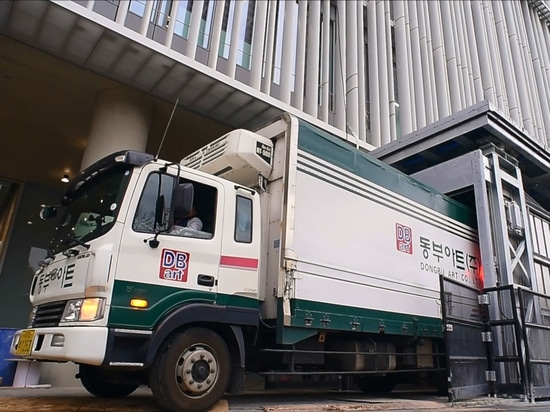 Unique truck lift for Amore Pacific, a Korean manufacturer of skincare products